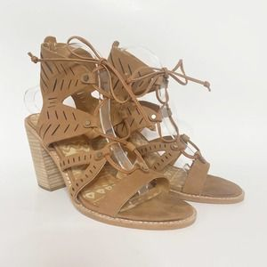 Dolce Vita Luci Ghillie Lace Up Block Heel Sandals